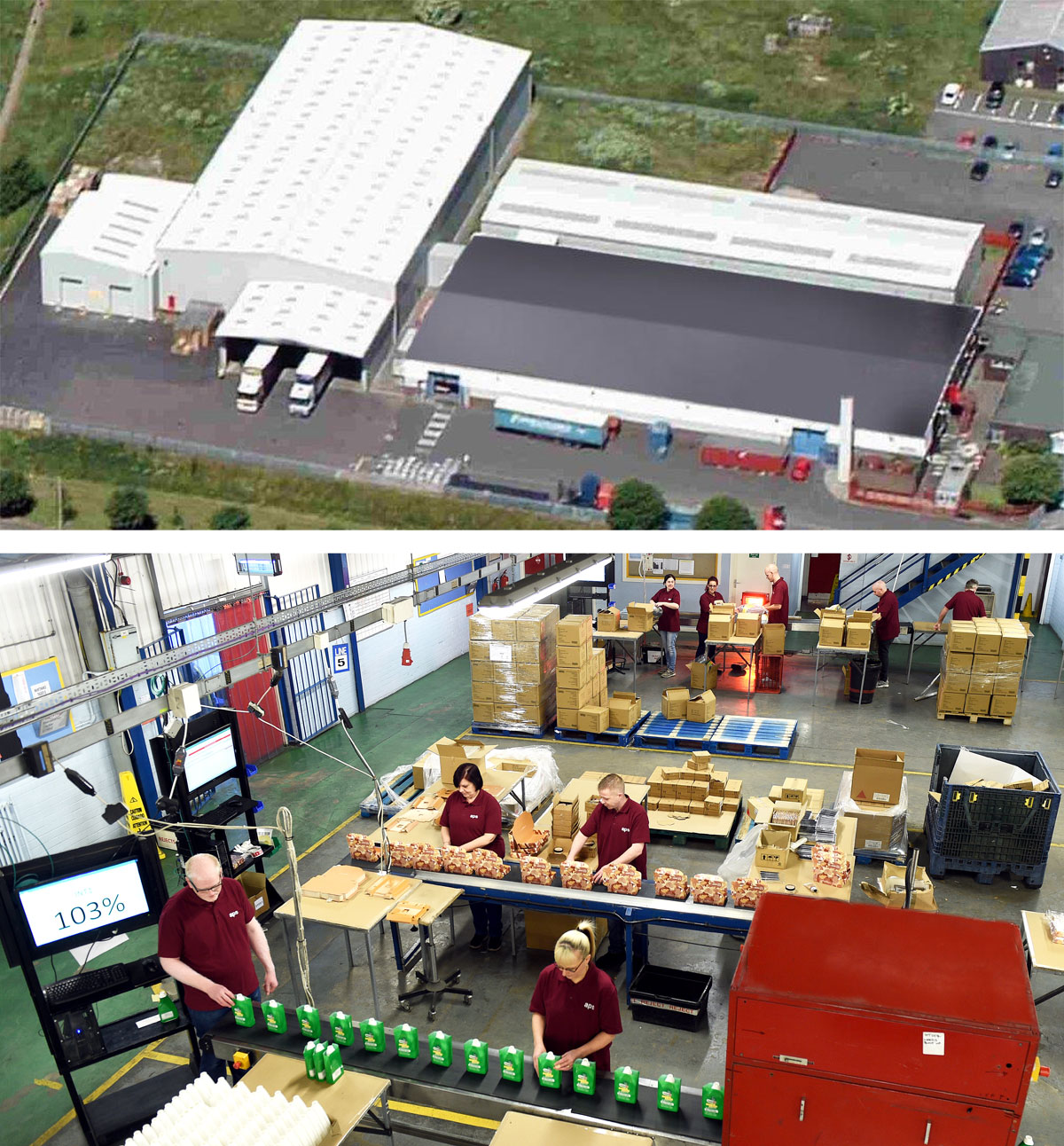 Photo: APS's 65,000 sq ft Blyth factory/fulfilment centre provides gift assembly, pick-and-pack, sub-assembly, labelling, collation, flow-wrapping, blister packing and filling services - and has space for further expansion